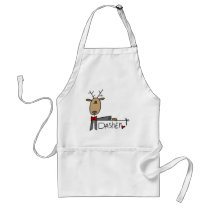 Dasher Reindeer Tshirts and Gifts Adult Apron