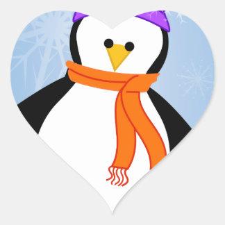 Dashi the Penguin Heart Sticker