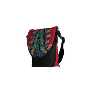 Dashiki rojo bolsa de mensajería