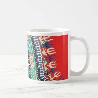 Dashiki rojo taza de café
