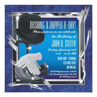 Dashing Custom 5.25 X 5.25 Invitations - Blue