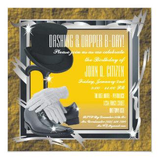 Dashing Custom 5.25 X 5.25 Invitations - Gold