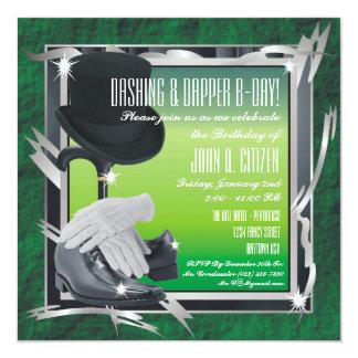 Dashing Custom 5.25 X 5.25 Invitations - Green