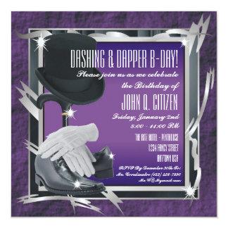 Dashing Custom 5.25 X 5.25 Invitations - Purple