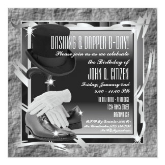 Dashing Custom 5.25 X 5.25 Invitations - Silver