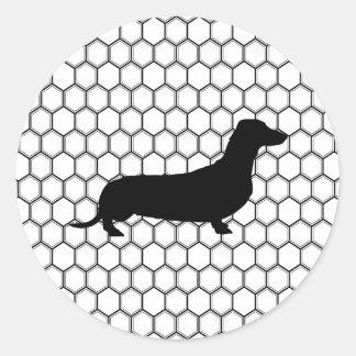 Dashing Dachshund Classic Round Sticker