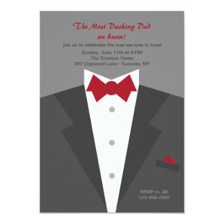 Dashing Dad Father's Day Invitation