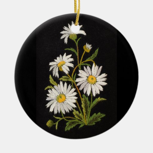 Dashing Daisies Circle Ornament