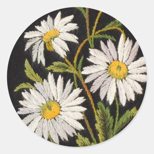 Dashing Daisies Classic Round Sticker