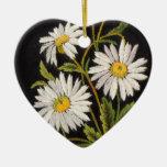 Dashing Daisies Heart Ornament