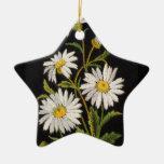 Dashing Daisies Star Ornament