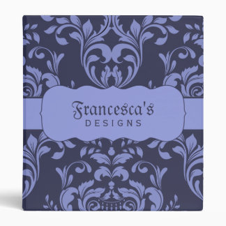 Dashing Damask in Lavender & Purple 3 Ring Binder