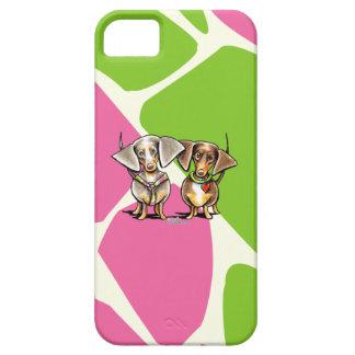 Dashing Dappled Dachshunds iPhone SE/5/5s Case