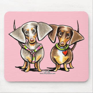 Dashing Dappled Dachshunds Mouse Pad