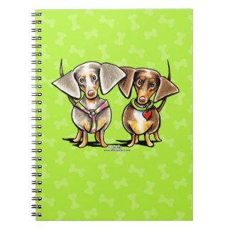 Dashing Dappled Dachshunds Spiral Notebooks
