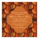 """Dashing Foliage Invitation 5.25"""" Square Invitation Card"""