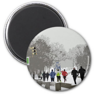 Dashing for the Holidays 2 Inch Round Magnet