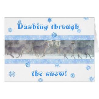 Dashing Holiday Card
