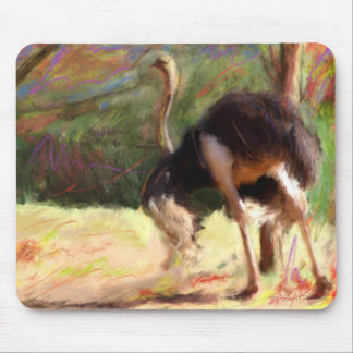 Dashing Ostrich Mouse Pad