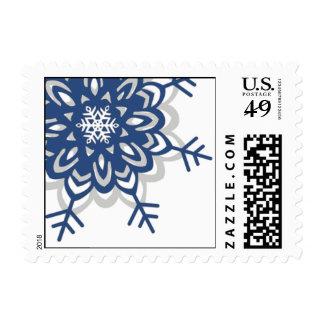 Dashing Snowflake Postage Stamps
