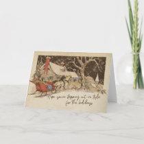 DASHING THROUGH 5x7 Greeting Card