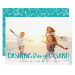 Dashing Through the Sand | Holiday Photo Card