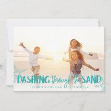 Dashing Through the Sand | Holiday Photo Card
