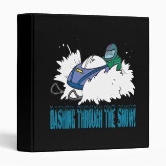 Dashing Through The Snow 3 Ring Binder