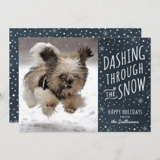 Dashing Through the Snow  Dog Christmas card