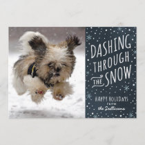 Dashing Through the Snow Holiday Pet Card