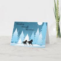 Dashing Through the Snow ~ Horse Christmas Holiday Card
