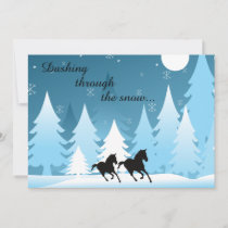 Dashing Through the Snow Horse Holiday Card