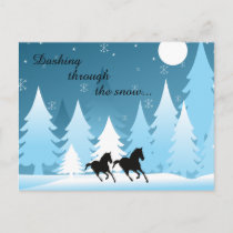 Dashing Through the Snow ~ Horse Holiday Christmas