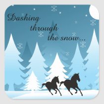 Dashing Through the Snow Horse Holiday Stickers