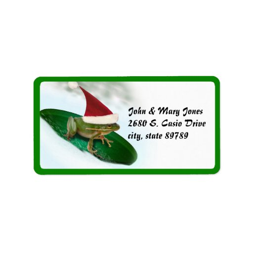 Dashing Through the Snow on a Lily Pad Personalized Address Labels