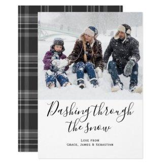 Dashing Through The Snow Photo Christmas Card