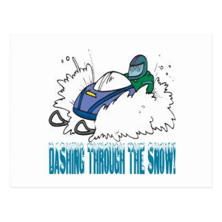 Dashing Through The Snow Postcard