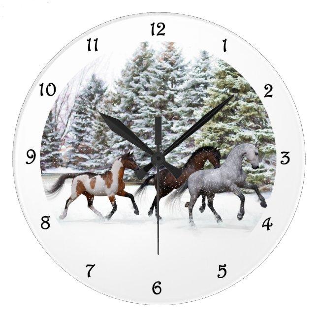 Dashing Through the Snow - Running Horses