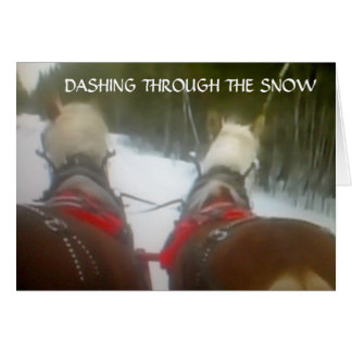 DASHING THROUGH THE SNOW THIS CHRISTMAS CARDS