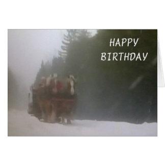 DASHING TO SAY HAPPY BIRTHDAY GREETING CARD