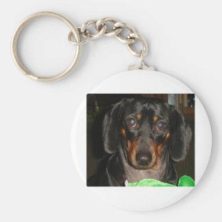 Dashshund Doggie Basic Round Button Keychain