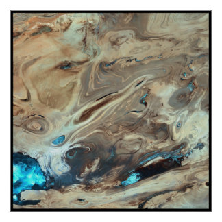Dasht-e Kevir Great Salt Desert Iran Poster