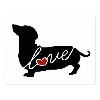 Dashund Wiener Dog Love Postcard