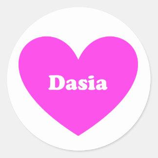 Dasia Classic Round Sticker