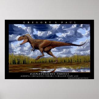 Daspletosaurus Greg Paul del poster del dinosaurio