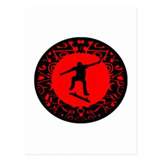 DAT RED SKATES POSTCARD