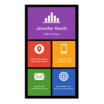 Data Analyst - Colorful Tiles Creative Double-Sided Standard Business Cards (Pack Of 100)