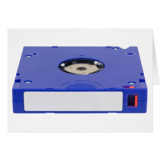 Data backup tape greeting card
