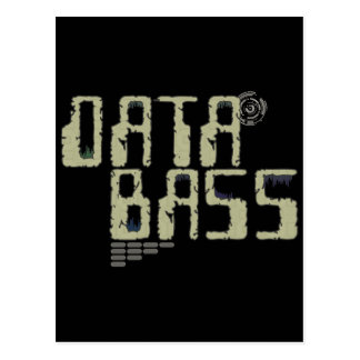 Data Bass Postcard