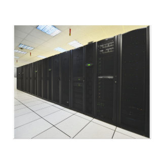 data center computers canvas print